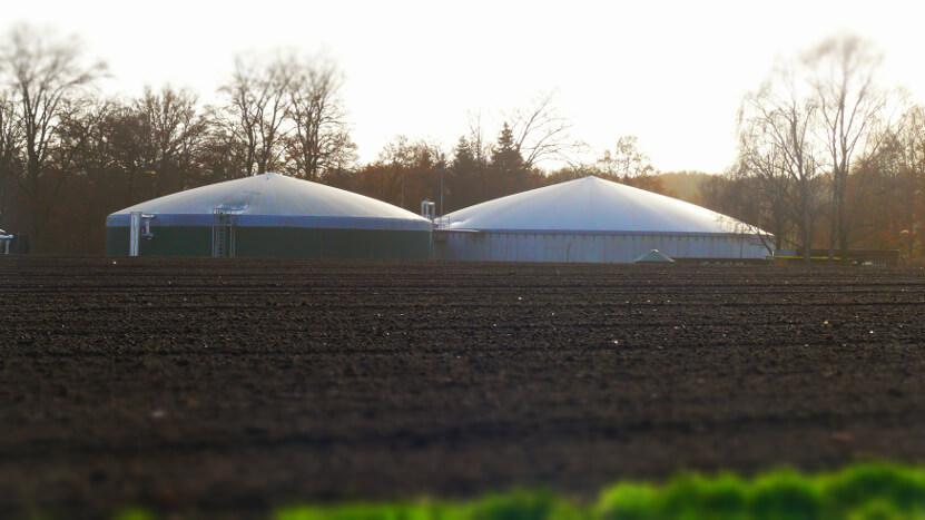 Biogasanlage zur Erzeugung von Strom und Wärme